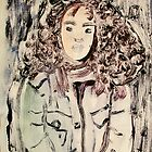 unknown curly haired girl by donnamalone
