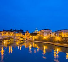 River Tiber and Vatican City by Mats Silvan