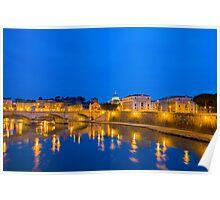 River Tiber and Vatican City Poster