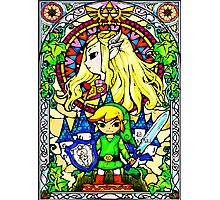 Zelda Wind Waker Stained Glass  Photographic Print
