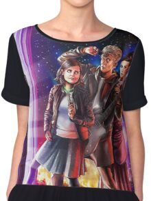 Doctor Who Back to the Future Chiffon Top