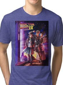 Doctor Who Back to the Future Tri-blend T-Shirt