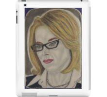 Super television news lady iPad Case/Skin