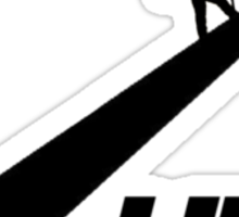 Hike (black) Sticker