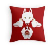 Mononoke - The wolves Throw Pillow