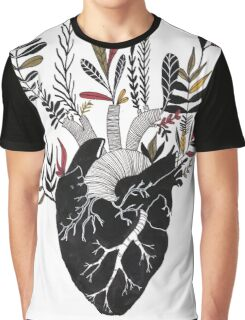 Floral Heart Graphic T-Shirt