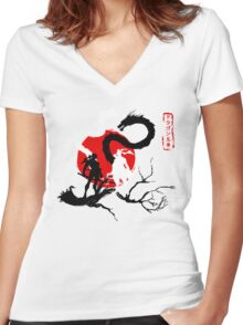 Dragon Brothers Women's Fitted V-Neck T-Shirt