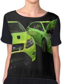 Two Green Focus RS Chiffon Top