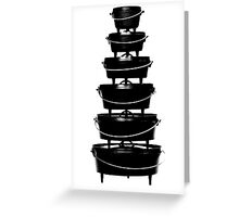 Cast iron dutch oven tower Greeting Card