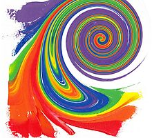 """Energetic Abstractions - """"Colour Blast Twistee"""" by Abstractions"""