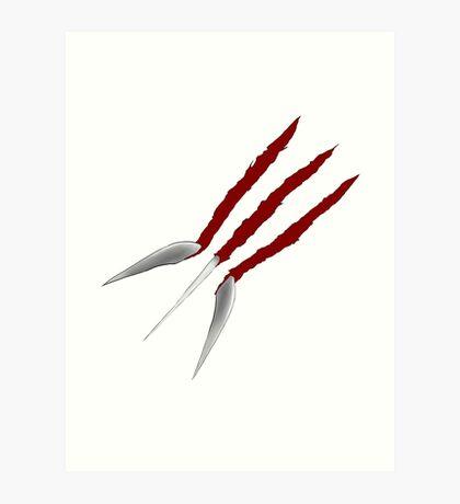Wolverine Claws Art Print
