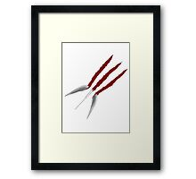Wolverine Claws Framed Print