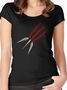 Wolverine Claws Women's Fitted Scoop T-Shirt