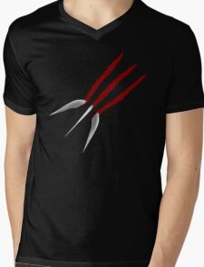 Wolverine Claws Mens V-Neck T-Shirt