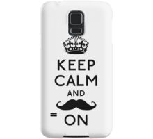 Keep Calm and Moustache On Samsung Galaxy Case/Skin