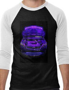Purple Glow Men's Baseball ¾ T-Shirt