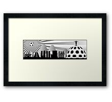 Rio skyline with ball Framed Print