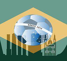 Rio de Janeiro skyline by siloto