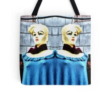 The Twins Blonde Mannequins in India Tote Bag