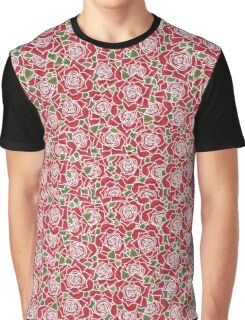 Romantic Red Roses Pattern Graphic T-Shirt