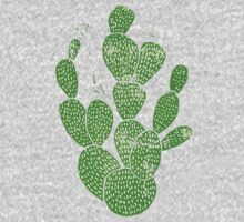 Linocut Cacti #1 One Piece - Long Sleeve
