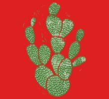 Linocut Cacti #1 One Piece - Short Sleeve