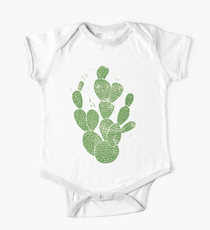 Linocut Cacti #1 One Piece - Short Sleeve