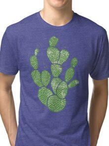 Linocut Cacti #1 Tri-blend T-Shirt