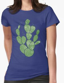 Linocut Cacti #1 Womens Fitted T-Shirt