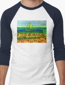 Sailing Ship in a Tin Men's Baseball ¾ T-Shirt