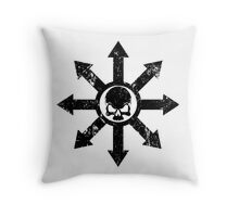 Mark of Chaos Distressed Black Throw Pillow