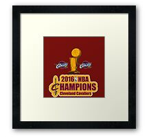 Cleveland Cavaliers Champions NBA 2016 Framed Print