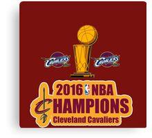 Cleveland Cavaliers Champions NBA 2016 Canvas Print