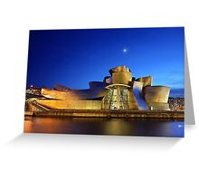 Nights of the Guggenheim Museum - Bilbao Greeting Card