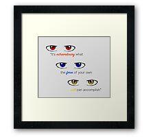 Werewolf Eyes & Quote Framed Print
