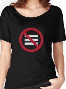 No Hamburger bar Women's Relaxed Fit T-Shirt