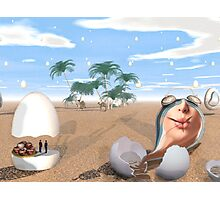 Amelia Earhart touches down 77 yrs later at Moroccan easter egg hunt Photographic Print