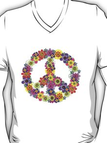 Peace Sign Floral T-Shirt