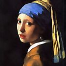 Girl with a Pearl Earring After Johannes Vermeer by taiche