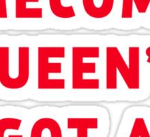 The homecoming queen's got a gun! Sticker