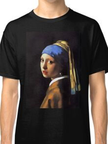 Girl with a Pearl Earring After Johannes Vermeer Classic T-Shirt