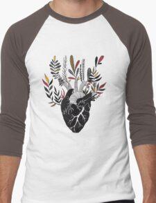Floral Heart Men's Baseball ¾ T-Shirt