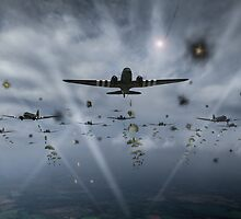 D-Day paratroop Dakotas by Gary Eason + Flight Artworks