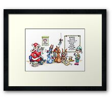 Reindeer For Hire Framed Print
