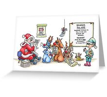 Reindeer For Hire Greeting Card
