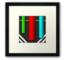Vertical - Simple and  Material Digital Design Framed Print