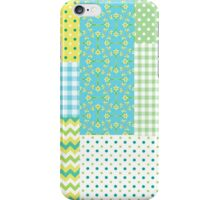 Spring Sunshine Daffodils Faux Patchwork Pattern iPhone Case/Skin