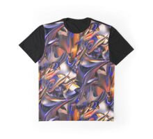 Iridescent Copper Metallic Abstract Graphic T-Shirt