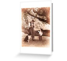 The shepherd and the child and fairy stories. III Greeting Card