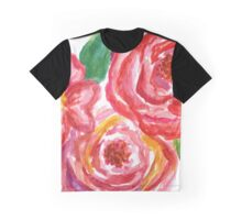 Pink watercolor peonies Graphic T-Shirt